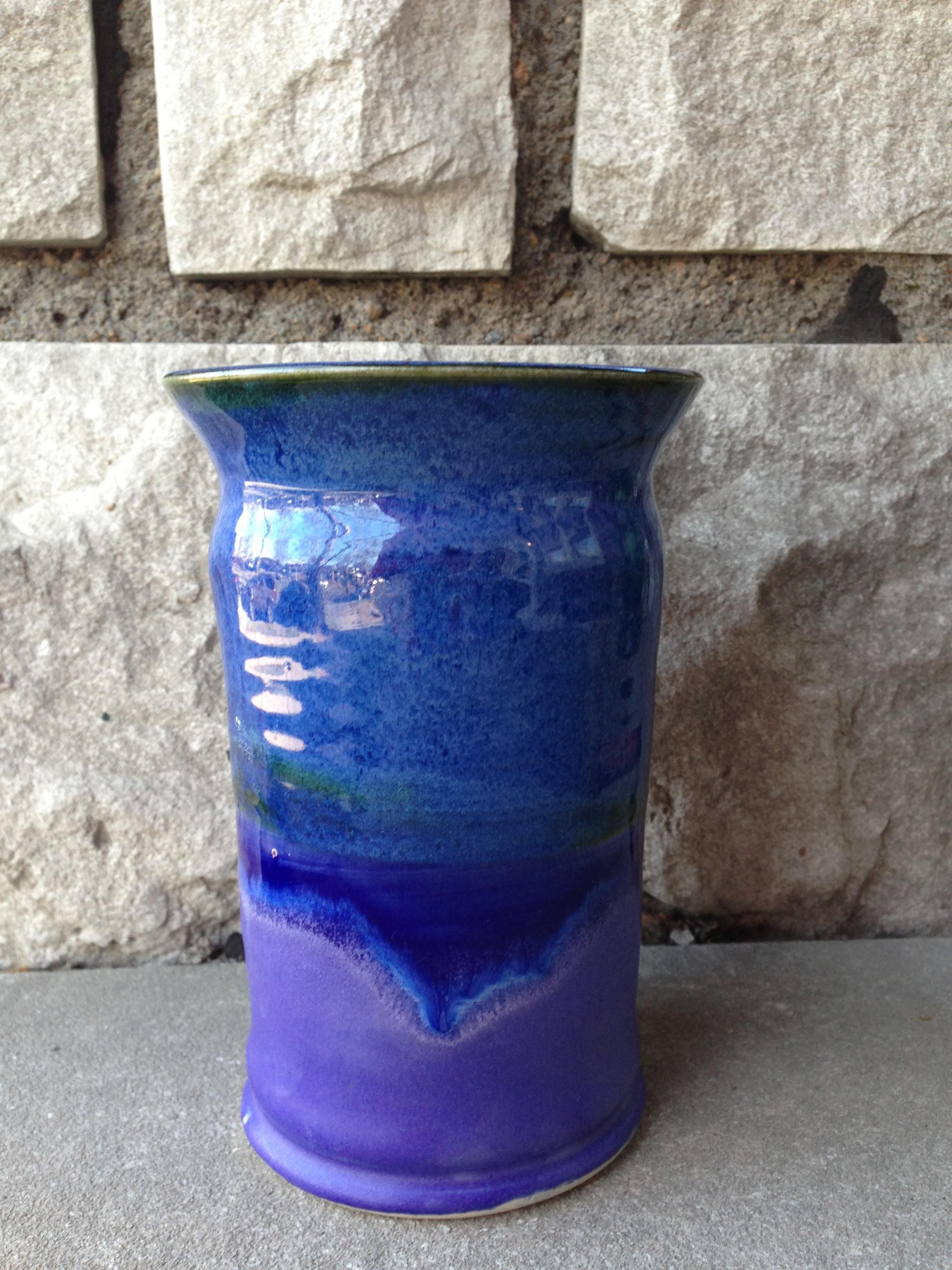 Blue/Purple Vase, Carondelet Pottery